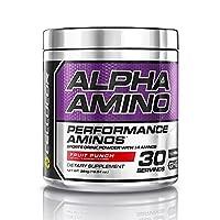 Cellucor Alpha Amino EAA y BCAA en polvo de recuperación, suplemento de aminoácidos de cadena esencial y ramificada, ponche de frutas, 30 porciones
