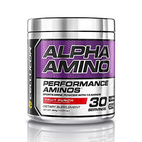 Cellucor Alpha Amino Acids Supplements with BCAA Powder, Fruit Punch, 13.54 Ounce (30 Servings)
