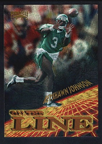 KEYSHAWN JOHNSON 1996 PINNACLE #11 RC ROOKIE ON THE LINE JETS SP MINT - Line Pinnacle