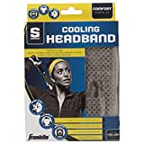 Franklin Sports Cooling Headband - Sports - Sports Headband - Sideline Cooling Headband - Snap Towel Cooling - Reusable - Stay Cool for Hours - Grey