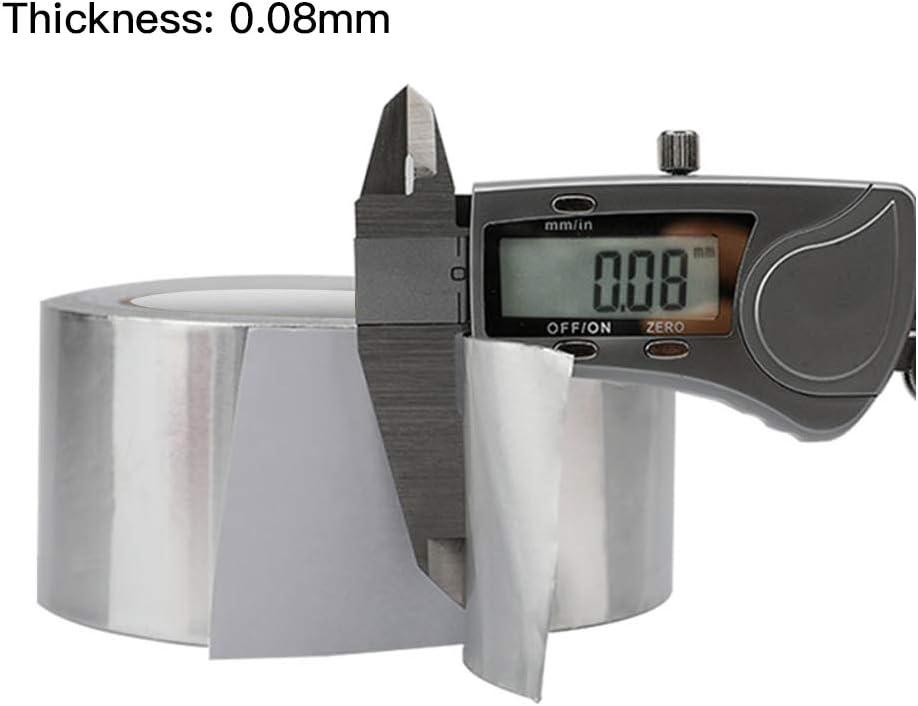 Klebeb/änder Aluminium Klebeband Hitzebest/ändig 5cm x 25m hochwertiges Isolierband Wasserdichtes selbstklebendes strapazierf/ähigiges Klebeband 1 Rolle