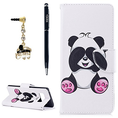 Cash Designs (Galaxy Note 8 Case, YOKIRIN [Card/Cash Slots] [Stand Featute] Design Dual- Use Flip Pattern Premium PU Leather Fold Wallet Pouch Cover for Samsung Galaxy Note 8 with 3D Bling Dust Plug & Pen,Bear)