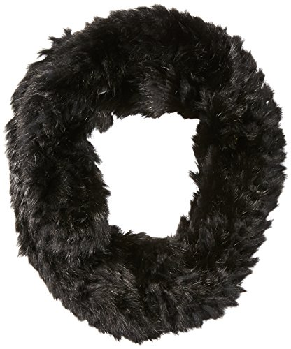 RUDSAK Women's Nantes Fur Eternity Scarf, Black/Black, One Size by RUDSAK