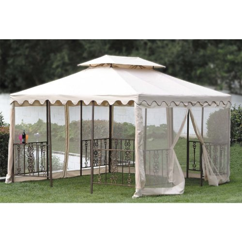 Garden Winds Replacement Canopy For 12 X 12 Scalloped Gazebo Riplock 350 Ebay