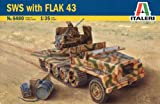 Italeri 1:35 Military Vehicle 6480 Sws With Flak 43