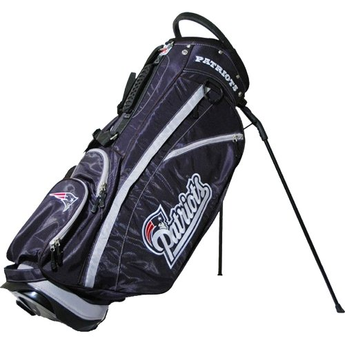 Team Golf NFL New England Patriots Fairway Golf Stand Bag, Lightweight, 14-way Top, Spring Action Stand, Insulated Cooler Pocket, Padded Strap, Umbrella Holder & Removable Rain Hood