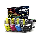 Avonce 4 pack High Yield Compatible Ink Cartridges for Brother LC3211 LC3211BK LC-3211 universal LC3213 LC3213BK for Brother DCP-J772DW, DCP-J572DW,DCP-J774DW, MFC-J890DW, MFC-J895DW