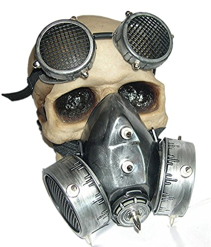 Qiu ping Men and women Europe and America steampunk costume ball retro gas mask]()