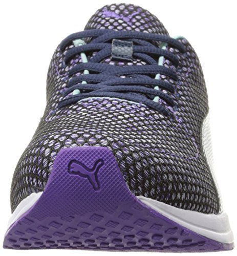Puma Womens Burst Tech Wns Cross-Trainer Shoe Royal Purple-aruba Blue-peacoat