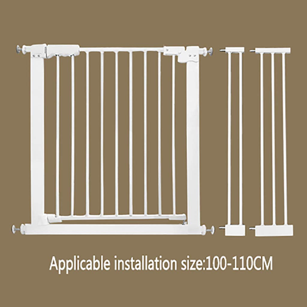 W100-110CM H 78CM W100-110CM H 78CM Pet gate Dog Fence Indoor Anti-Dog Isolation Railing Safety Fence Cat and Dog Fence Isolation Door Pet Fence pet Bed Detachable (color   W100-110CM, Size   H 78CM)