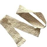 ZHH 1 Pair 16 inches Long Handcrafted Openwork Crochet Holdbacks Curtain Straps Decorative Tie-Backs,Cotton