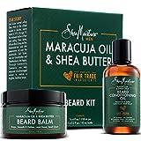 ounce Shea Moisture Beard Oil & Balm Grooming Kit For Men, Organic All natural Maracuja & Shea Oils, Beard Conditioning Oil, 3.2 Ounce & Beard Balm, 4 Ounce. Moisturize & Soften