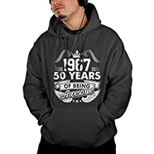 Karen Saucerman 1967 Year 60 Years Adult Hooded Kangaroo Pockets Men's Hoodie Sweatshirt Enrich Your Life