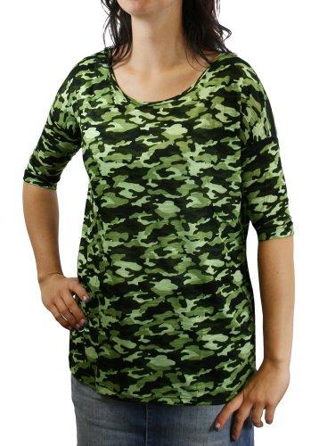 Vero Moda T-Shirt Camouflage Lukas 2/4 Top black/green camou