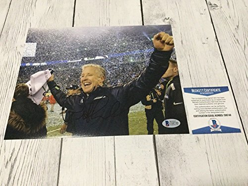 Pete Carroll Signed Seattle Seahawks 8x10 Picture Beckett BAS COA E