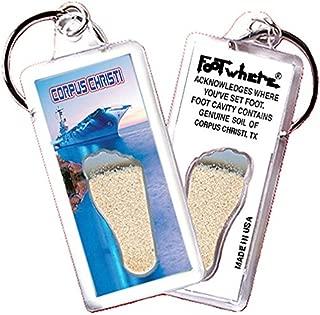 "product image for Corpus Christi""FootWhere"" Souvenir Key Chain. Made in USA (CRC106 - USS Lexington)"