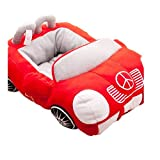 Daisy1993 Sports Cars Design Pet Square Beds House with Removable Pet Bed Mat for Small Dogs and Cats (Red)