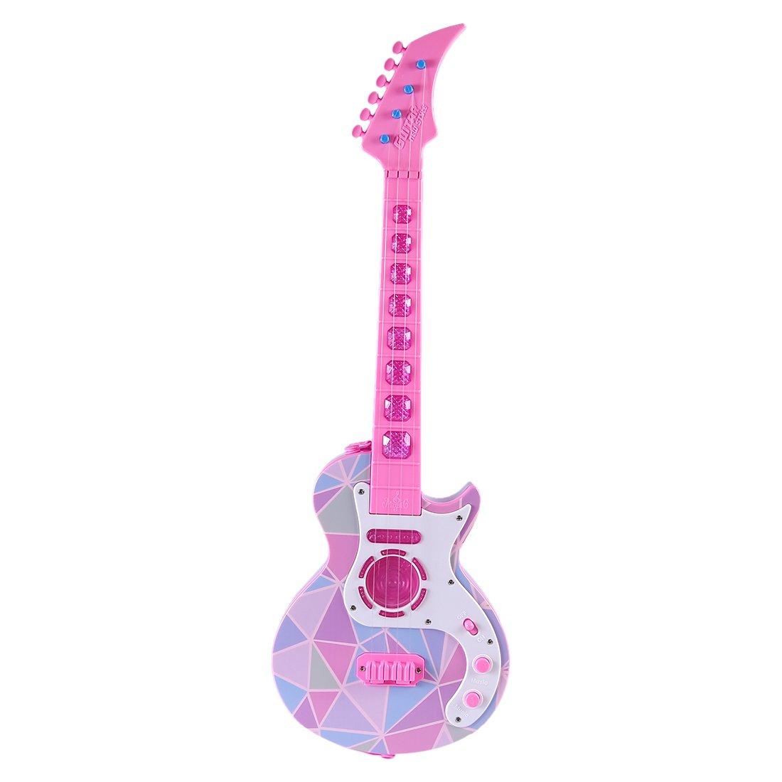 Tosbess 4 Saiten Kindergitarre Kinder Gitarre Pädagogisches Spielzeug für ab 3 Jahre