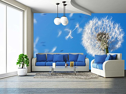 Dandelion Seeds Flying in the Blue Sky Useful for Spring Themes