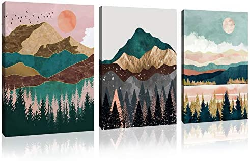 Landscape Wall Art Canvas Home Art Decoration Abstract Mountain Natural Scenery Canvas Mural Living Room