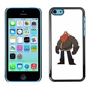 """For Apple iPhone 5C Case , Big Belly Hombre Barba Roja Arte Dibujo"""" - Diseño Patrón Teléfono Caso Cubierta Case Bumper Duro Protección Case Cover Funda"""