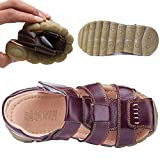 DADAWEN Boy's Girl's Leather Closed Toe Outdoor