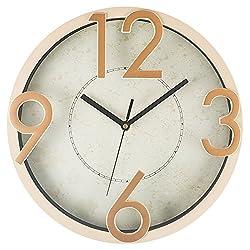 Benail 12 Inch Silent Quartz Decorative Large Modern Wall Clock Non-ticking Digital (White)