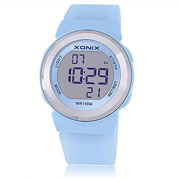 ASD Reloj Deportivo, Reloj Electrónico para Mujer/Luminoso, Impermeable, Natación, Deportes