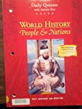 World History: People and Nations, Holt, Rinehart and Winston Staff, 0030533775