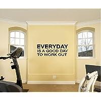 Everyday es un buen día para entrenamiento Fitness Entrenamiento Gimnasio motivación pared vinilo calcomanía pared letras