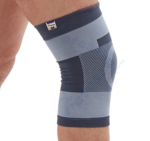 Actesso Kompression Kniebandage - Kann bei Verletzungen des Knies, wie Bänderverletzungen oder Zerrungen und Verstauchungen eingesetzt werden (Groß (39-42))