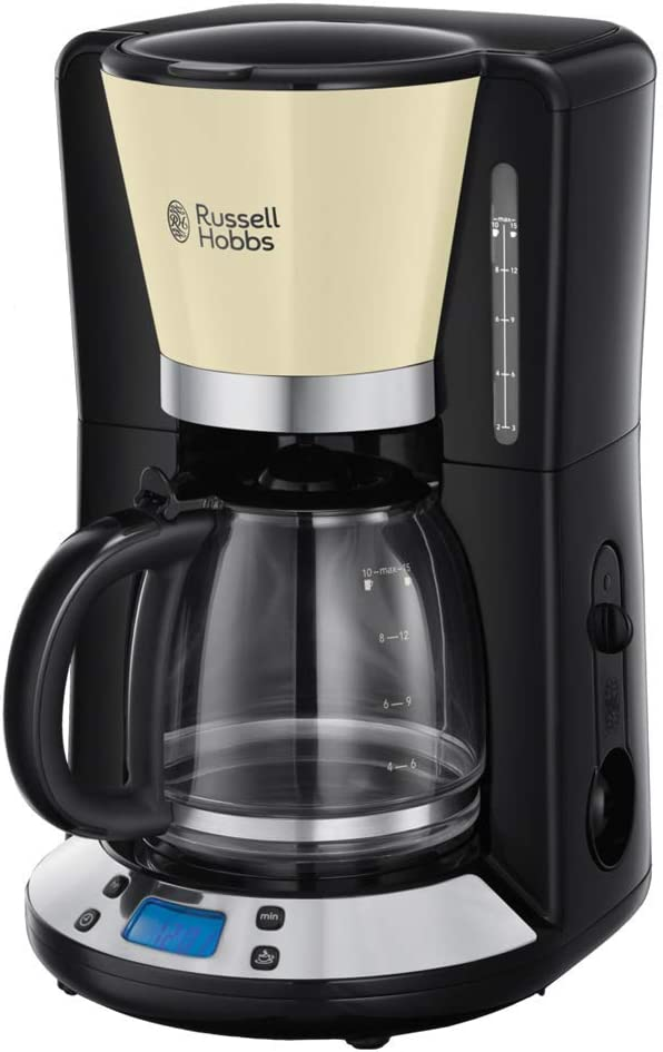 Russell Hobbs Colours Plus - Cafetera de Goteo (Jarra Cafetera para 15 Tazas, 1000 W, Crema) - ref. 24033-56: Amazon.es: Hogar
