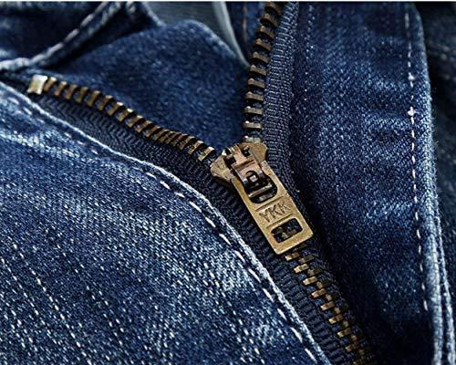 Chiaro Slim Pantaloni Allungano Di Denim Dei Svago Uomini Jeans Colore I Targogo Blauwhite Fit Skinny Violenti Cher Fori Degli zFBvqII84