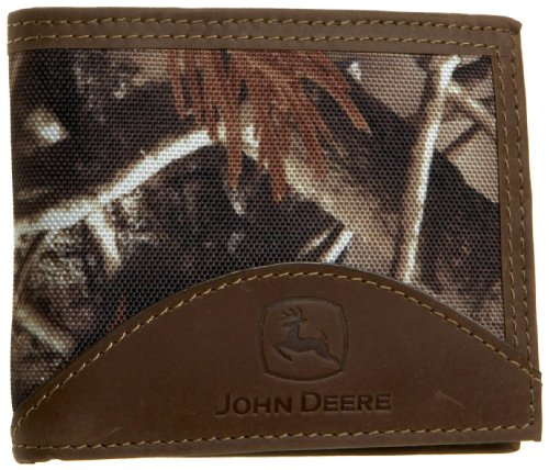 John Deere Men's Passcase Wallet in Gift Box, Camouflage One Size