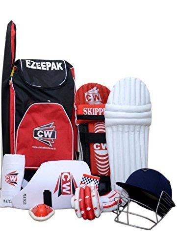 CW Cricket World Junior 7 Item Ezeepak without Cricket Bat Kit (Red, 9-10 Years) (B07F9SCLXD) Amazon Price History, Amazon Price Tracker