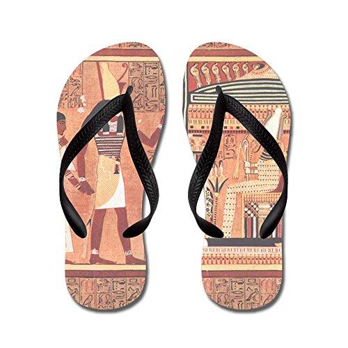 Cafepress Ani Papyrus Egiziano - Infradito, Sandali Infradito Divertenti, Sandali Da Spiaggia Neri