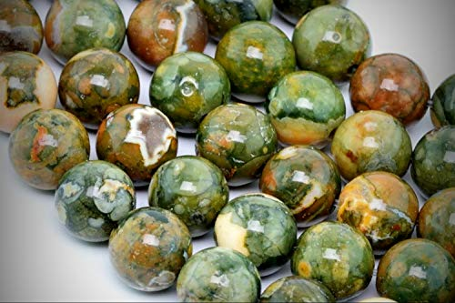 Approx.50 Beads Lot - 8mm Rainforest Rhyolite Beads Color Grade AA Round Loose Jewelry Making Beads 15.5