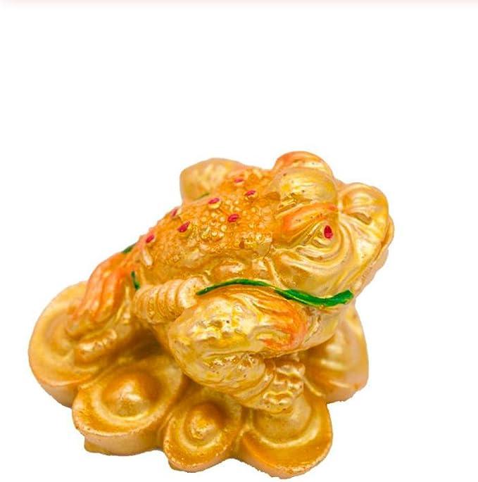 yueyue947 Resina Tres Patas Chino Lucky Money Sapo Figurita Rana ...