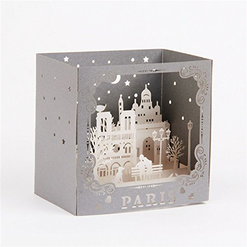 (Dreamen Mothers Day Love mum castles pop-up cards craft 3D Greeting Card, Wedding Invitation Card Lovers birthday Couple's Happy Anniversary (Romantic)