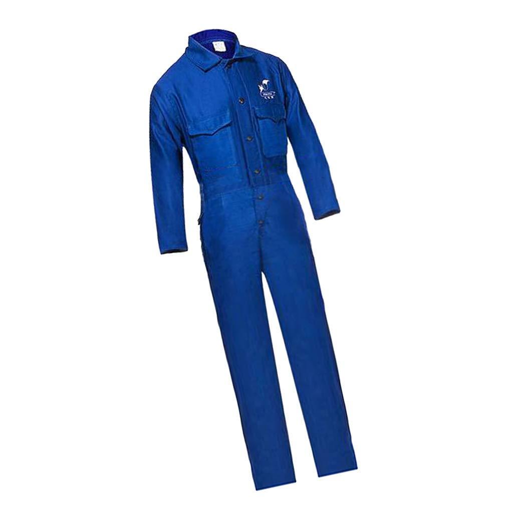 nouler Conjunto de Juler 1-Set Soldadura Azul Trabajador Conjunto para Proteger la Seguridad Resistente al Calor L