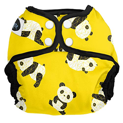 Imagine Baby Products One Size Cloth Diaper Cover, Snap, Panda Fold