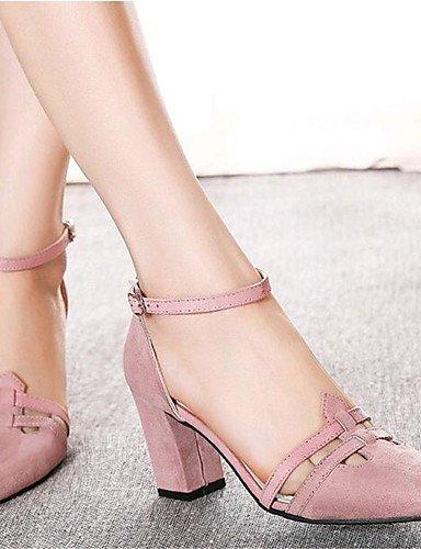 GGX/ Damenschuhe-High Heels-Lässig-PU-Blockabsatz-Absätze-Schwarz / Rosa , pink-us5.5 / eu36 / uk3.5 / cn35 , pink-us5.5 / eu36 / uk3.5 / cn35