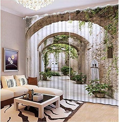 HomeAZWQ Moderne Décoration De La Maison Salon Rideaux 3D ...