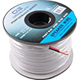 C&E 100-Feet 14 AWG CL2 Rated 2-Conductor Loud Speaker Cable