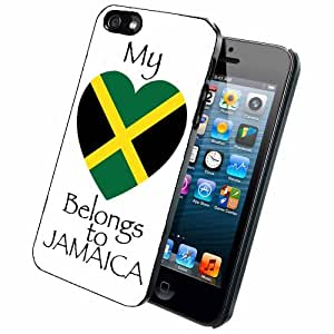 My Heart Belongs to Jamaica Case Back Cover (iPhone 5/5s - Rubber)