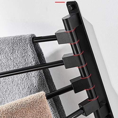 HTTSCタオル掛け タオルホルダー、バスルーム棚、浴室の棚折りたたみタオルレール (サイズ : Spin three)