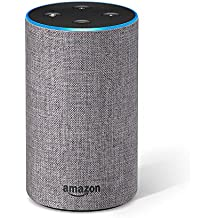 All-new Echo (2nd Generation) with improved sound, powered by Dolby, and a new design – Heather Gray Fabric