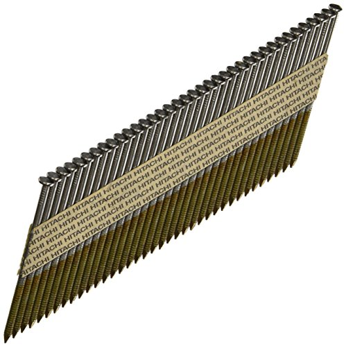(Hitachi 15108 3-Inch x 0.131-Inch Ring Shank Clipped-Head Paper Tape Framing Brite Basic Nails, 2500-Pack)