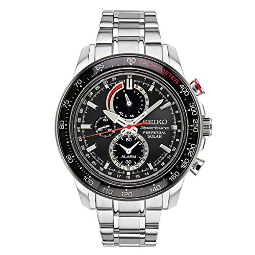 (Seiko Men's Sportura Solar Perpetual Chronograph Watch)