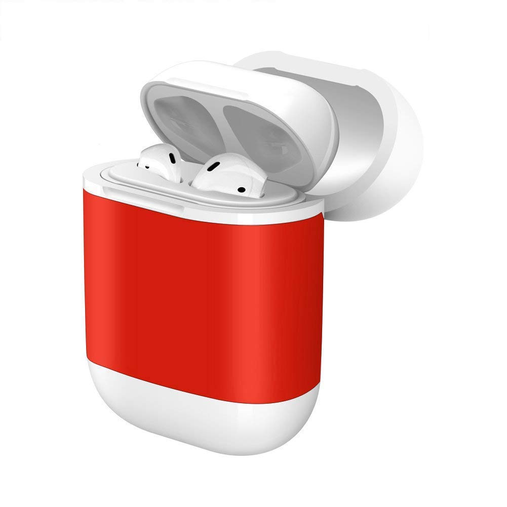 Twinkk Wireless Charging Case Cover Compatible AirPods Qi Standard Wireless Charging Protective Case Fits Air-Pods Compatible with All Qi Wireless Charger (Red)